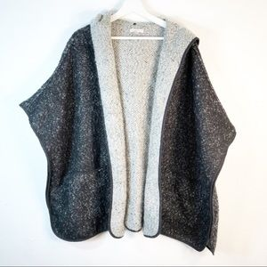 LOFT 20/22 Open Poncho Sweater Jacket Lagenlook